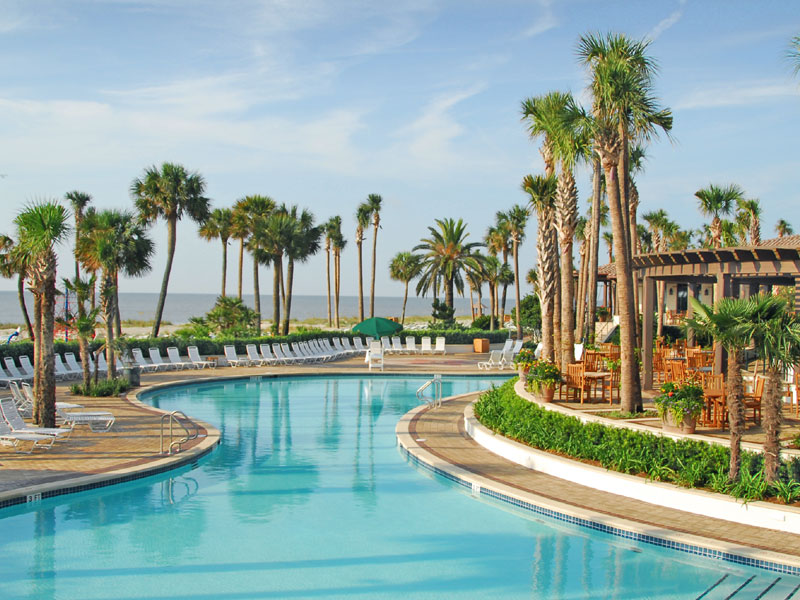 Swimming Pool at Sea Island Resort