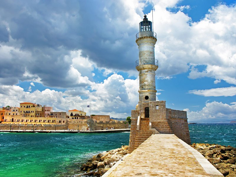 Chania Lighthouse, Crete, Greece