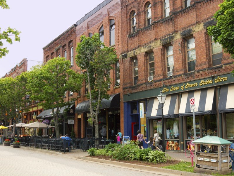Victoria Row in Charlottetown, Prince Edward Island.