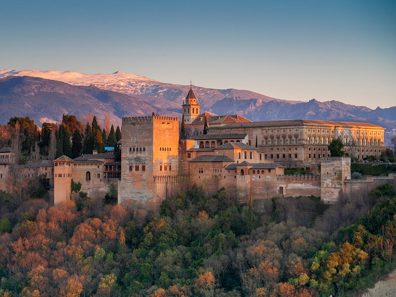 Alhambra Palace in Grenada, Spain