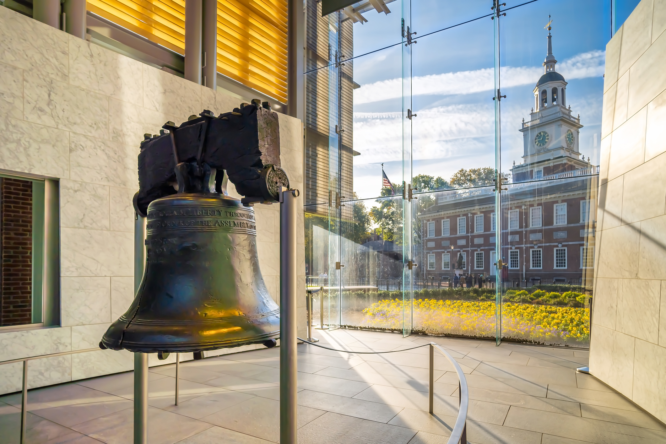 Liberty Bell old symbol of American freedom in Philadelphia