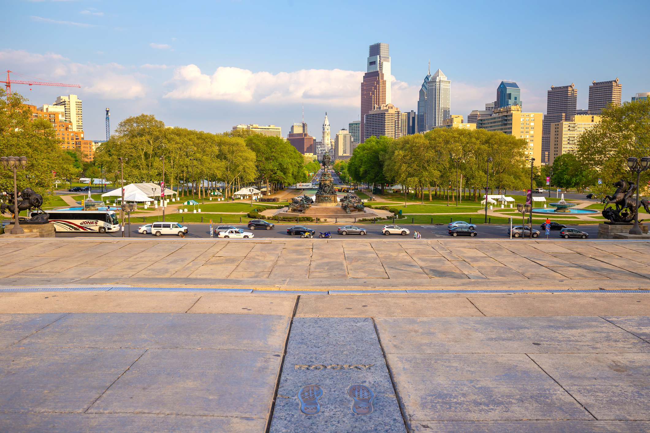 Rocky Steps monument in downtown Philadelphia