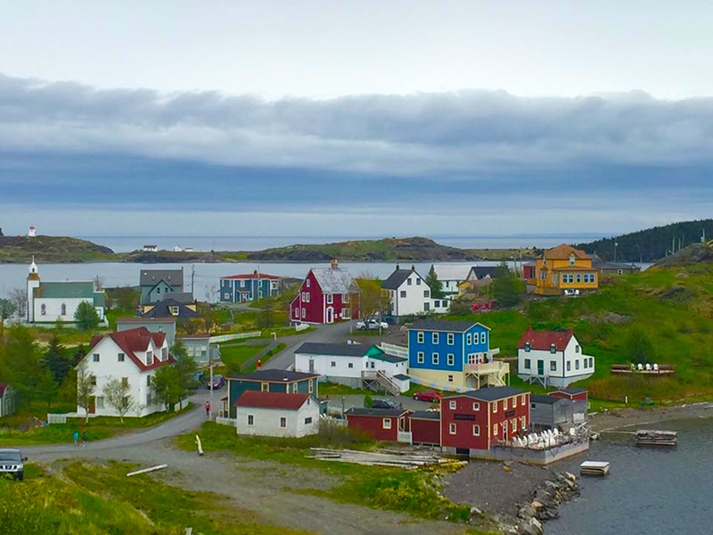 The colorful town of Trinity, Newfoundland