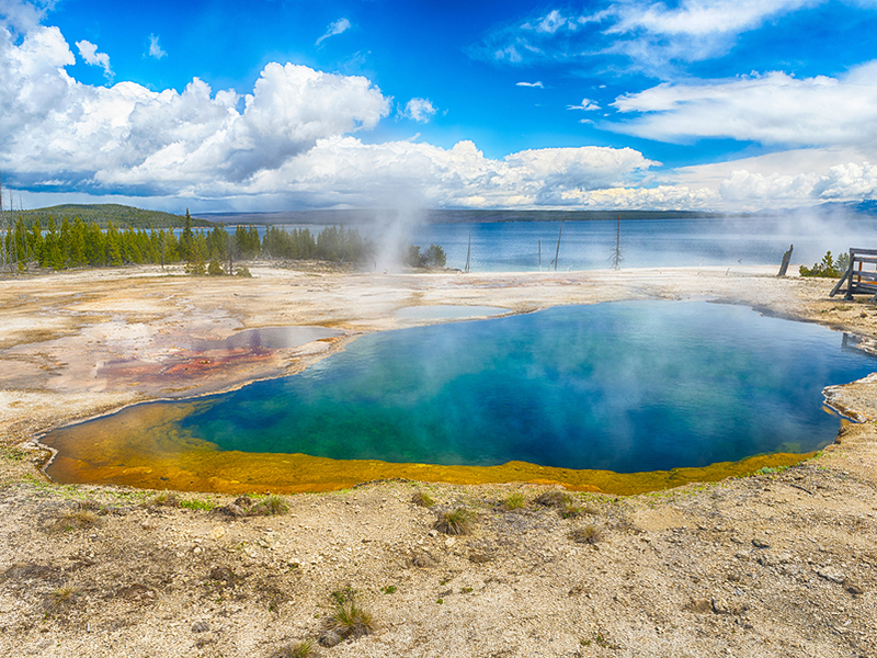 Abysss Pool at Yellowstone National Park