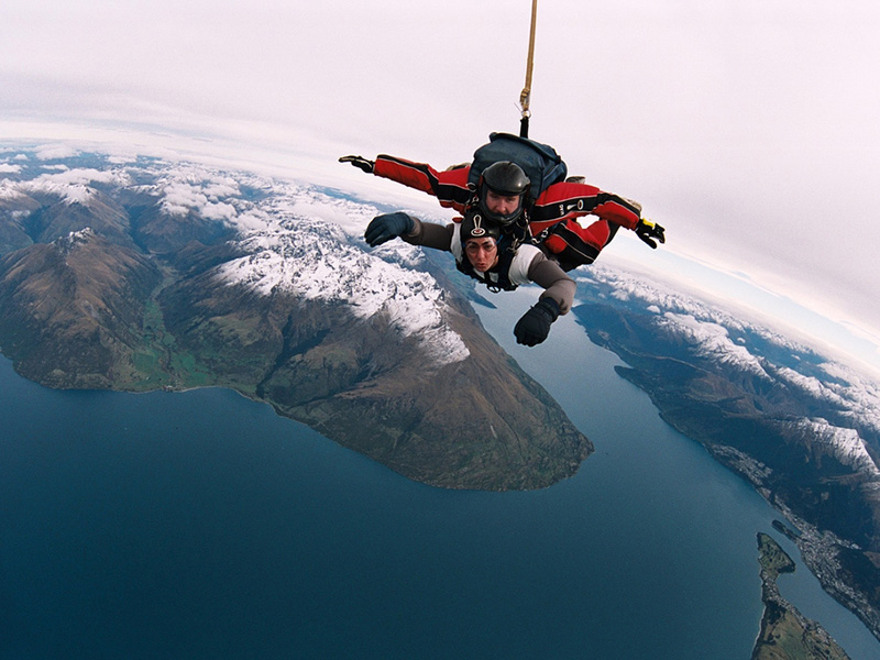 Skydiving over Queenstown, New Zealand