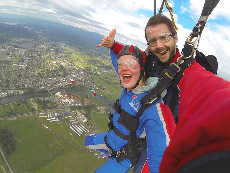 Skydiving over Snohomish, Washington