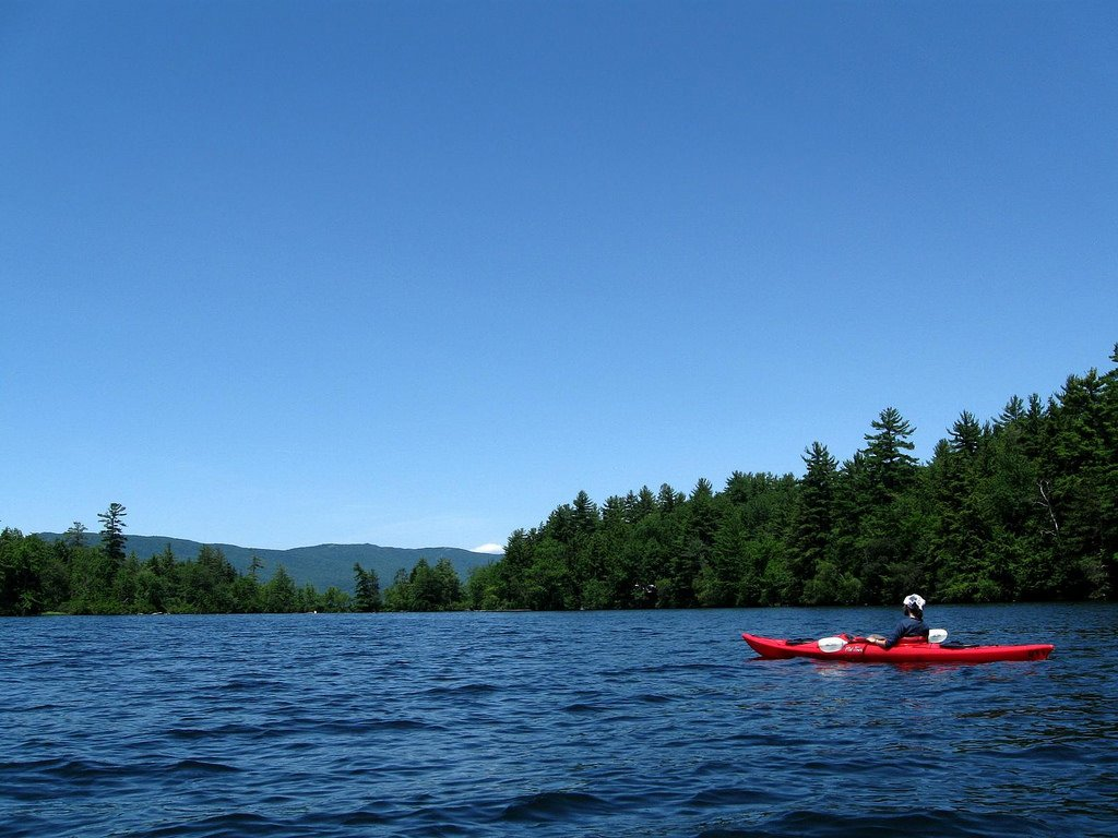 Paddling on Squam Lake, New Hampshire