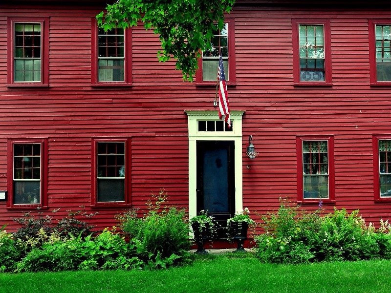 18th-century colonial home in Hancock