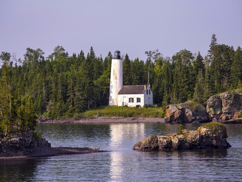 Rock Harbor Lighthouse, Isle Royale National Park,