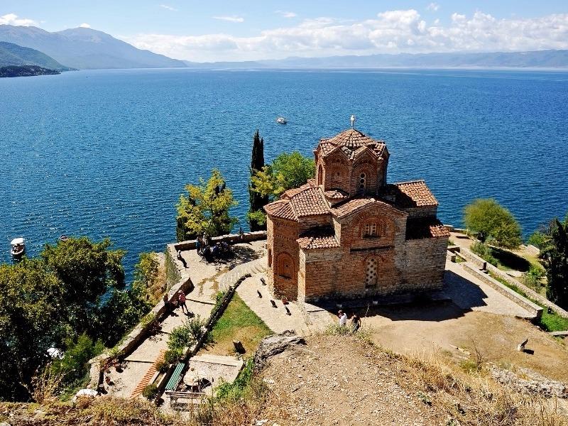 Saint Jovan Kaneo Church on Lake Ohrid