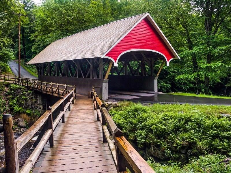Franconia covered bridge