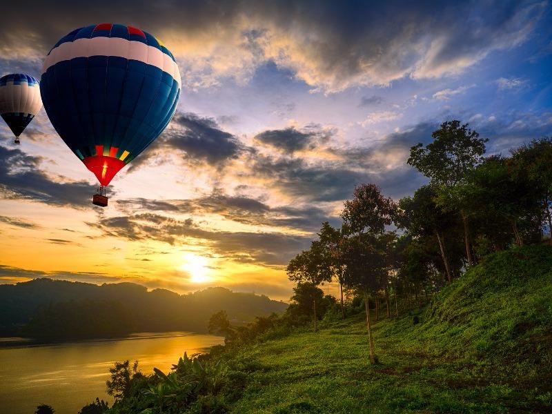 Hot Air Balloon, Colorado