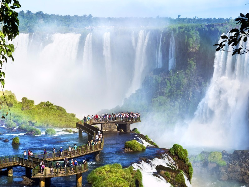 Iguazu Falls, one of the most popular attractions in Argentina