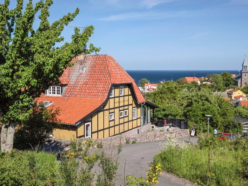 Gudhjem, Denmark overlooking the Baltic Sea