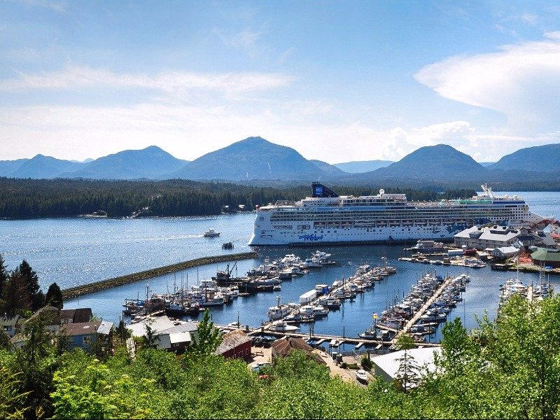 Cruise ship at Ketchikan, Alaska
