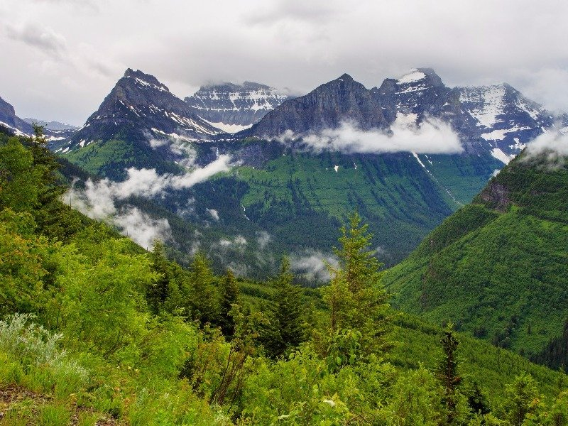 Glacier National Park from Going to the Sun Road, Montana