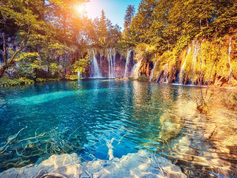 waterfalls of Plitvice Lakes National Park,  Croatia