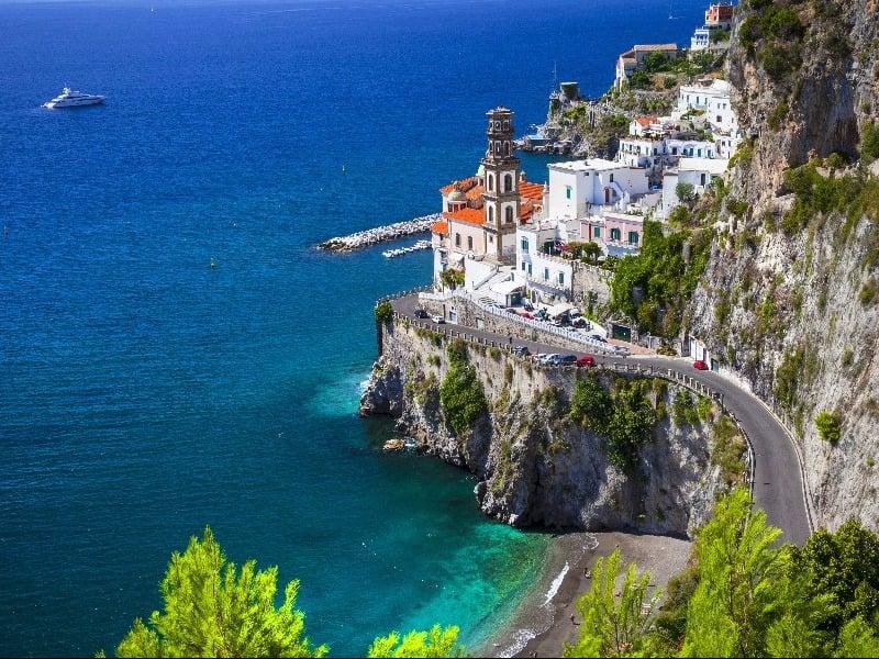 Stunning coastal view among the Amalfi Coast, Italy