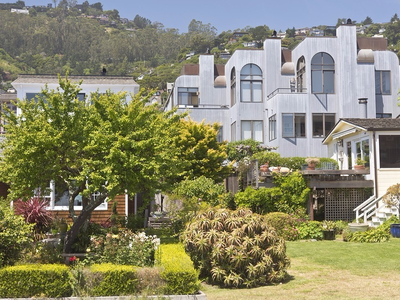 Architecture and gardens in Sausalito