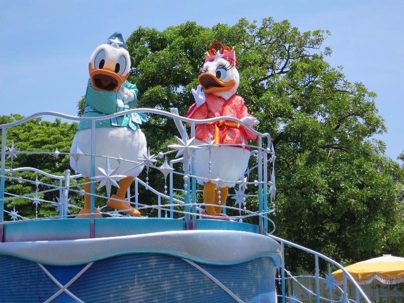 Donald and Daisy at Tokyo Disney