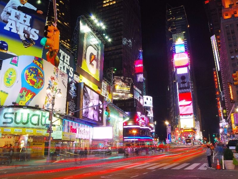Times Square, New York City after dark