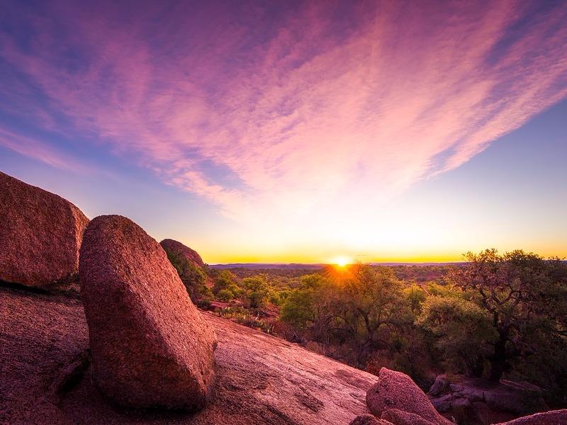 Sunrise at Enchanted Rock