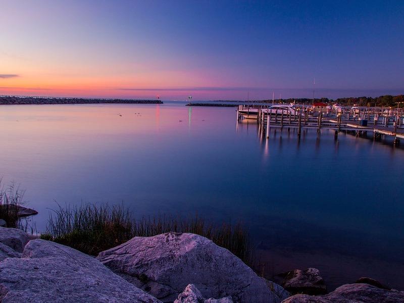 Morning Sunrise Over Michigan Harbor