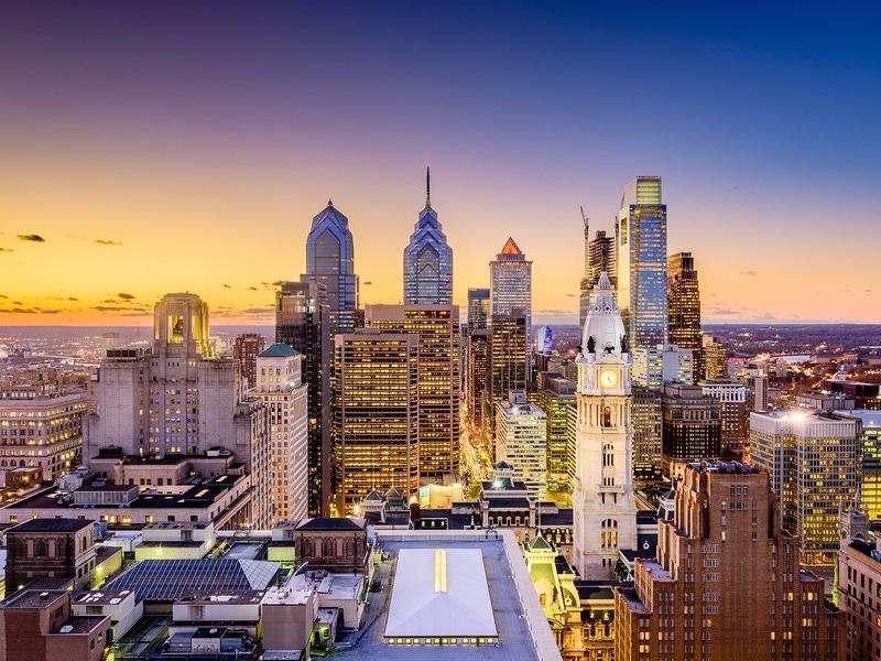 Philadelphia downtown skyline