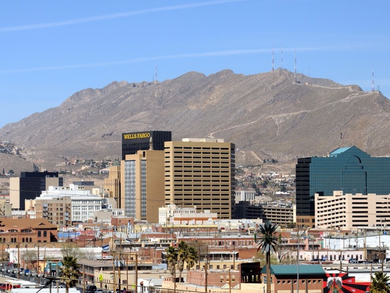 Downtown El Paso seen from Mexico