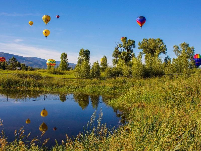 hot air ballooning, Steamboat Springs