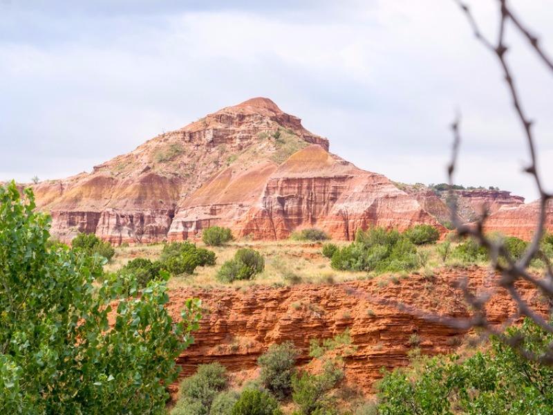 Capitol Peak in Palo Duro Canyon near Amarillo