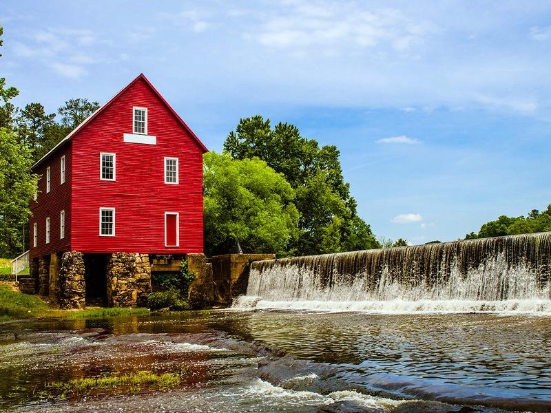 Starr's Mill, a historic landmark near Fayetteville, GA