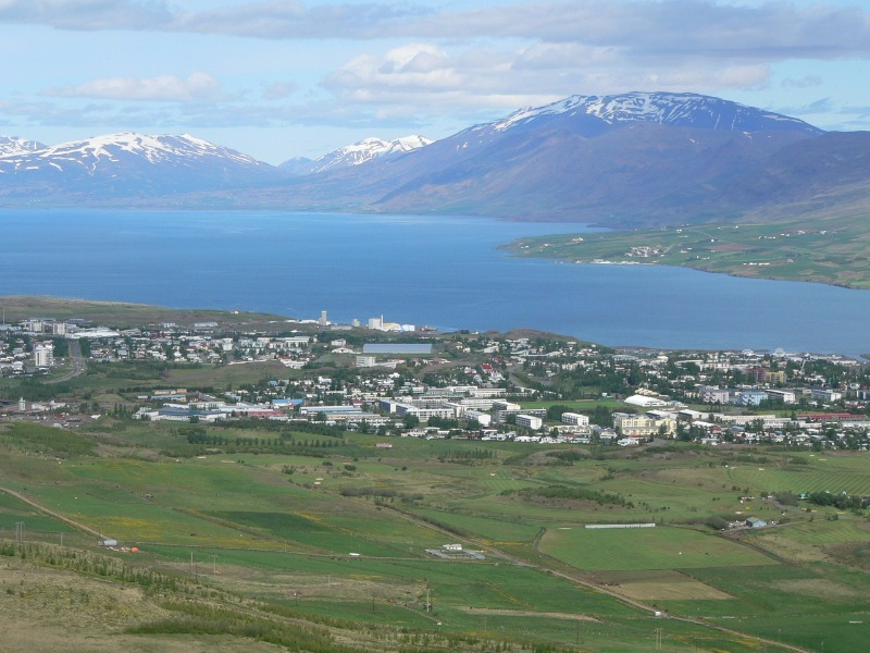 Overlooking Akureyri from Hamrar