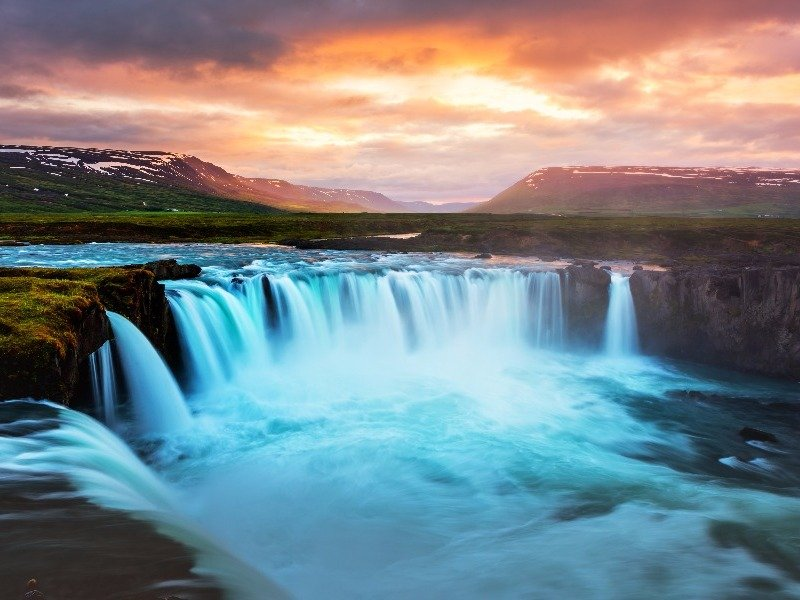 Godafoss Waterfall, Northern Iceland