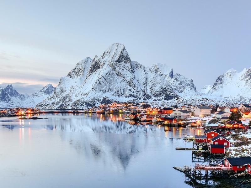 Reine Norway winter