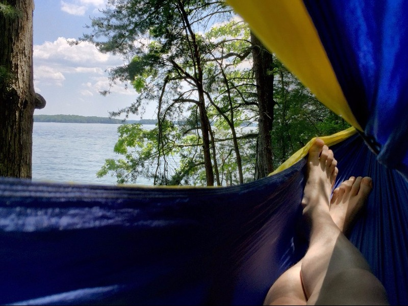 View of Lake Lanier from a Hammock