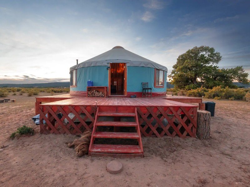 Primitive Yurt Camping Tent, Fort Defiance
