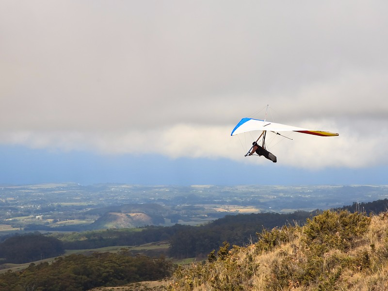 Hang Glider on take off in Hawaii