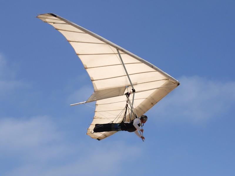 Hang gliding off the California coast in La Jolla