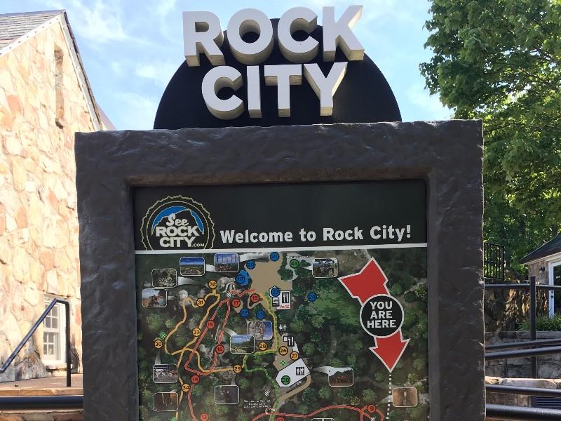 Rock City map at entrance