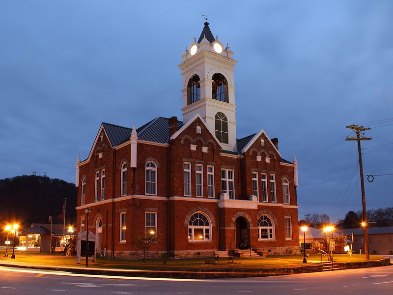 The historic Blairsville Courthouse