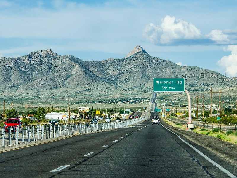 Highway in New Mexico near Las Cruces