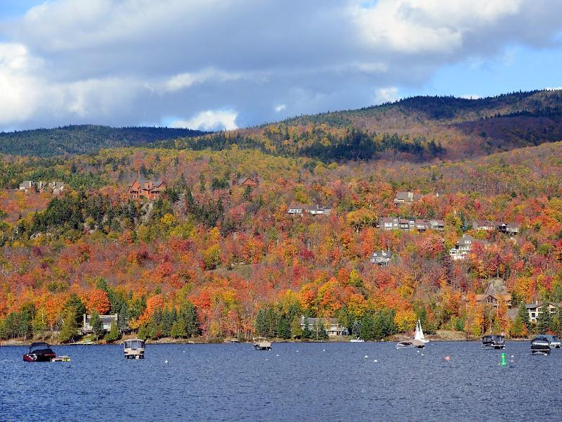 Lake Tremblant, Laurentian Mountains, Quebec, Canada