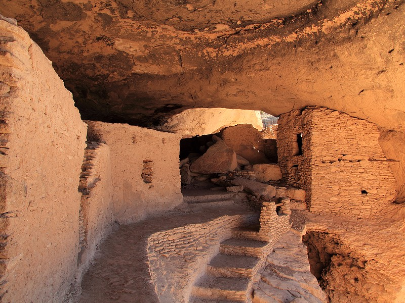 Gila Cliff Dwellings National Monument in the Gila National Forest near Silver City