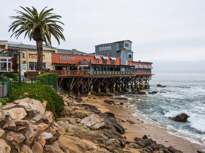 Cannery Row and Beach in Monterey