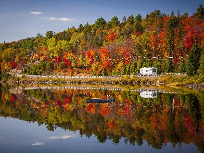 fall in Algonquin Park, Ontario, Canada