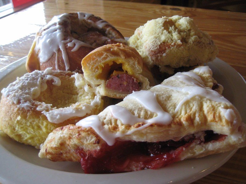 Kolaches and pastries at Chappell Hill Bakery