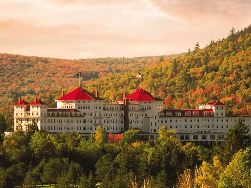 Omni Mount Washington Resort in autumn