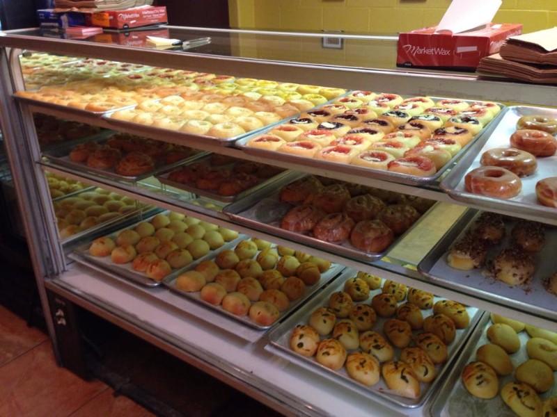 Kolache case at Two Czech Chicks Kolache Shoppe & Bakery