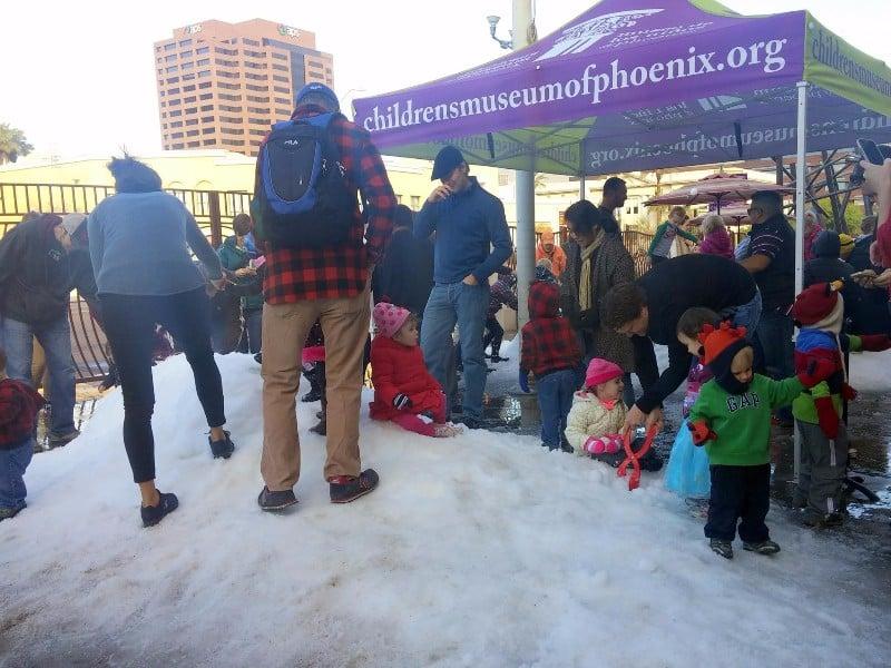 Children's Museum of Phoenix Snow Much Fun Day